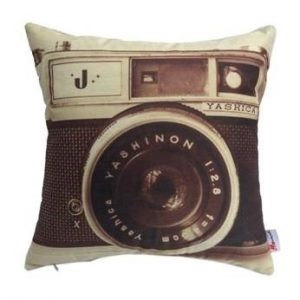 11. Vintage Camera Pattern Pillow Cushion Cover