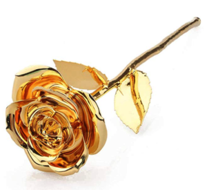 Rose Dipped in Gold