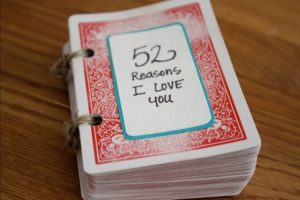 4. 52 Reasons I Love you: DIY Gift