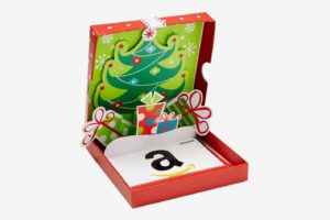 Amazon Gift Card in a Holiday Pop-Up Box