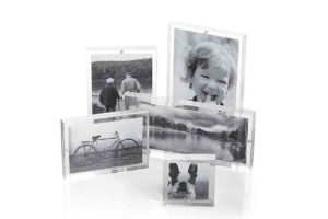 Crate and Barrel Acrylic Block Picture Frames