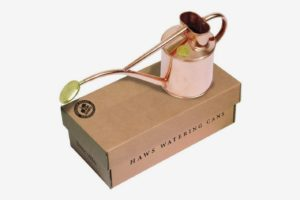 Haws Indoor Watering Can with Rose and Gift Box, 2-Pint/1-Liter, Copper
