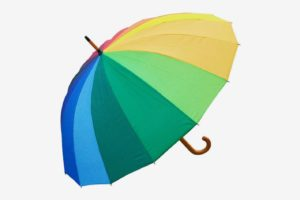 RainStoppers Auto Open 16-Panel Rainbow Umbrella